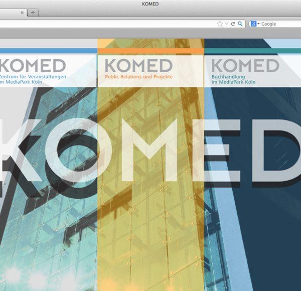 Internetauftritt KOMED im Mediapark